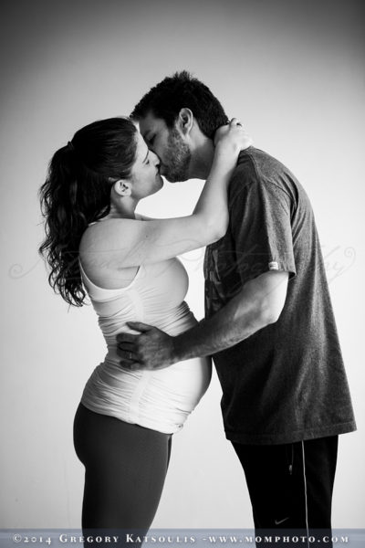 prenatal yoga couple